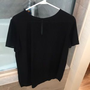 Ann Taylor black blouse size L color black